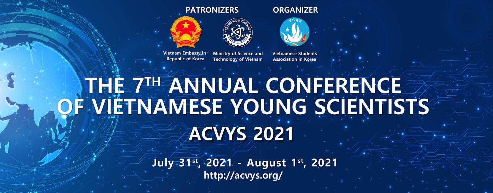 [ACVYS 2021] THÔNG BÁO KẾT QUẢ GIẢI THƯỞNG NHÀ KHOA HỌC TRẺ VIỆT NAM XUẤT SẮC TẠI HÀN QUỐC NĂM 2021 (VYSK 2021)