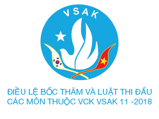 Điều lệ bốc thăm và luật thi đấu các môn thuộc vòng chung kết ĐHTDTT VSAK 11-2018