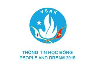 THÔNG TIN HỌC BỔNG PEOPLE AND DREAM 2019