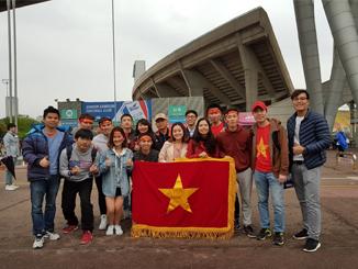 Sôi động cùng sinh viên Việt Nam tại Hàn Quốc trong trận giao hữu U19 Việt Nam – Hàn Quốc