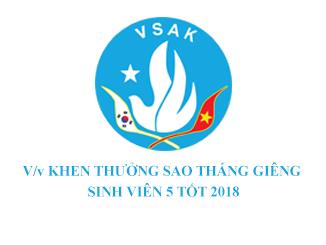 V/v KHEN THƯỞNG SAO THÁNG GIÊNG - SINH VIÊN 5 TỐT 2018