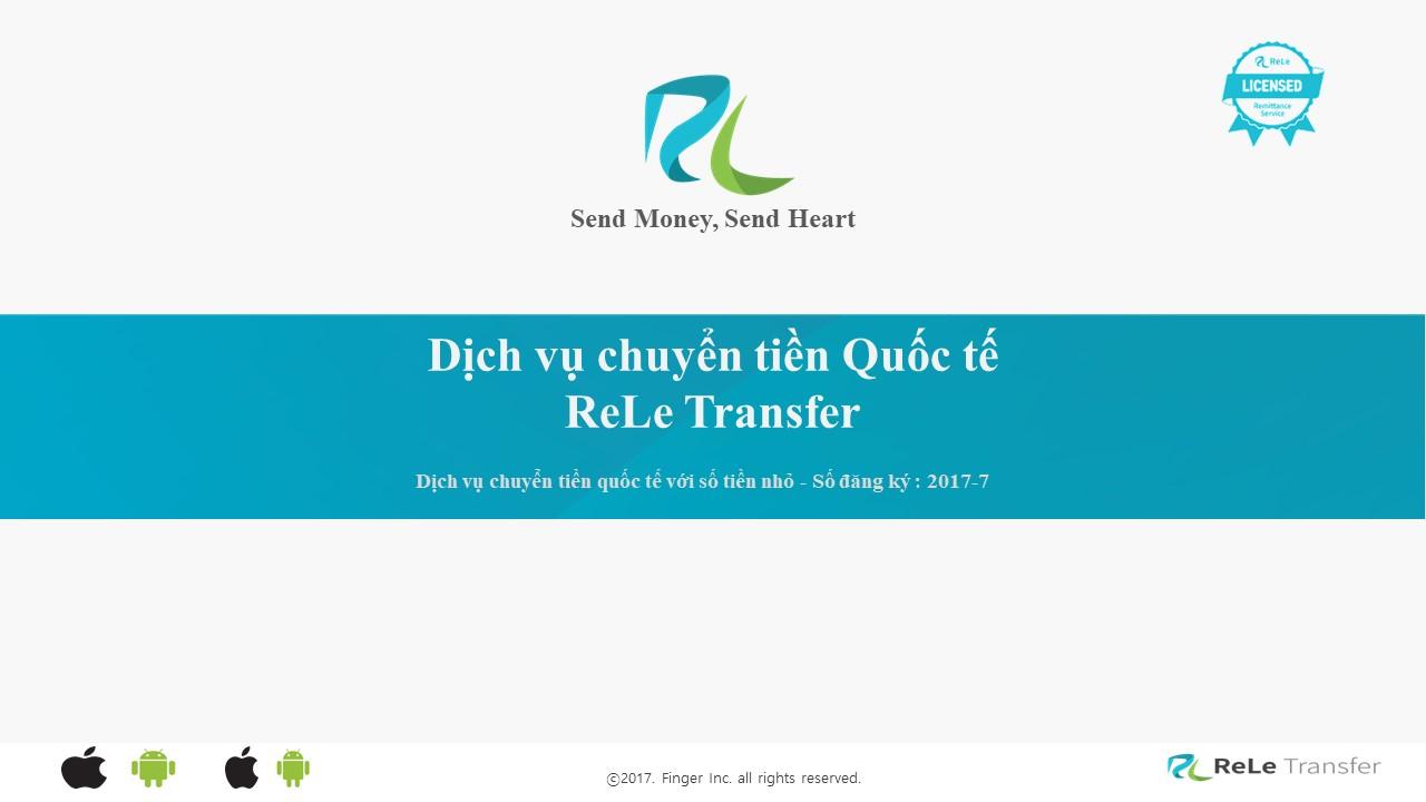 DỊCH VỤ CHUYỂN TIỀN QUỐC TẾ ReLe Transfer - nhà tài trợ đồng hành cùng chương trình sáng tạo video clip
